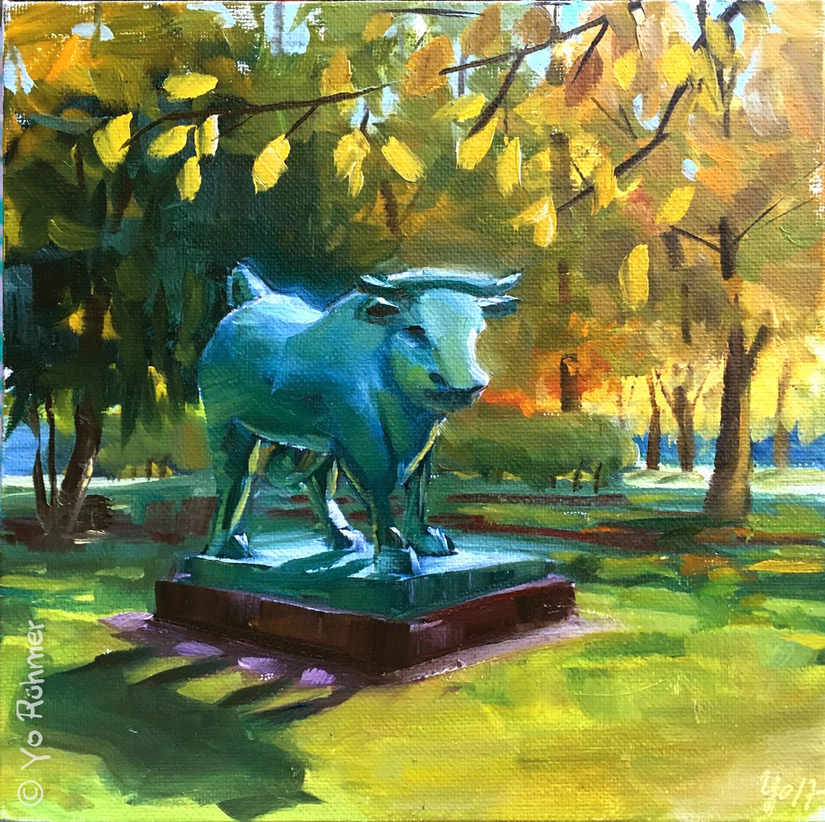 Stier-gemalt