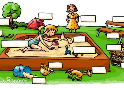 Sandkasten_Schulbuchillustration