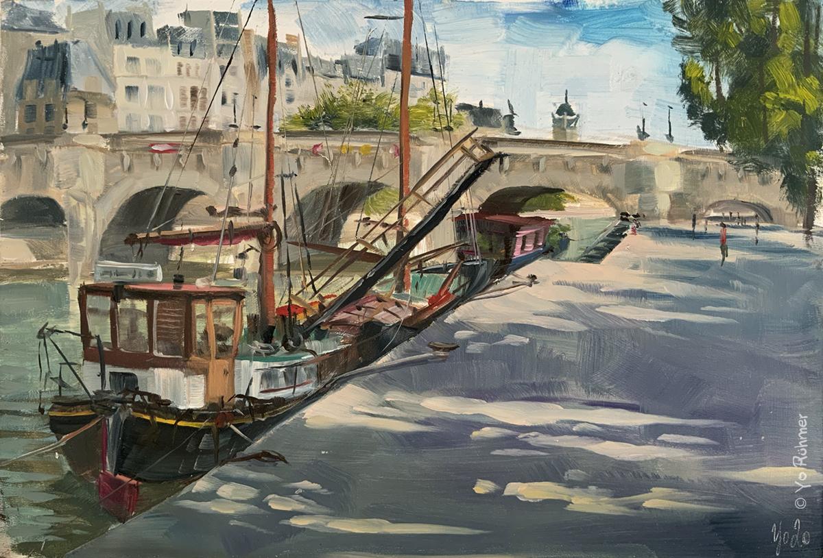 boat_Seine_paris_oilpainting